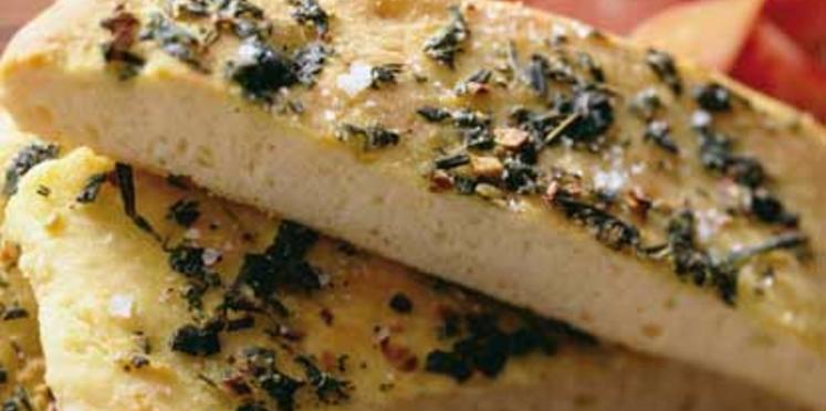 Focaccia au sel et aux algues