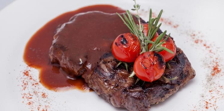 Rumsteck grillé sauce à l'anchois