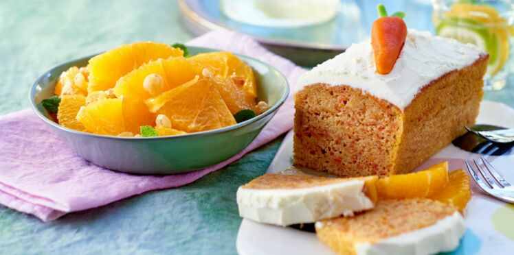 Cake léger aux carottes et salade d'orange à la marocaine