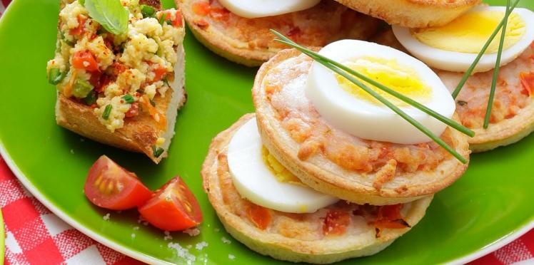 Mini-pizza aux œufs