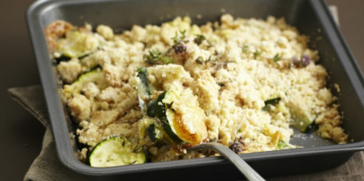 Crumble courgettes et camembert