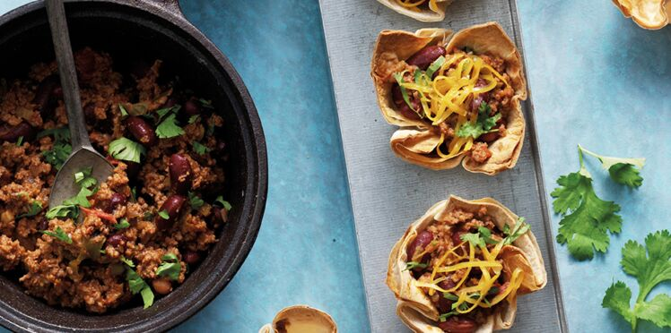 Les Mini coupelles tacos
