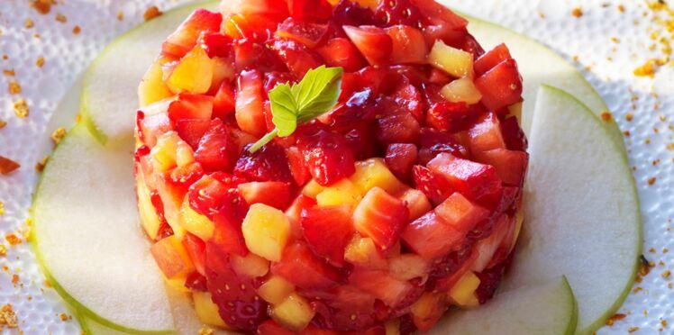 Tartare de fraises et nectarines