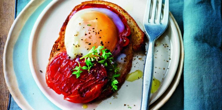 Œuf cuit à basse température, tomate caramélisée