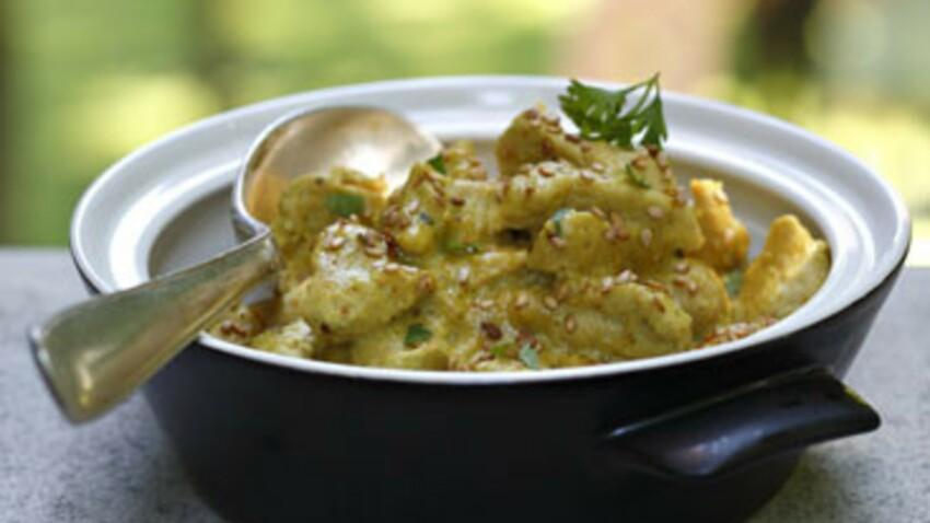 Emincé de poulet au curry