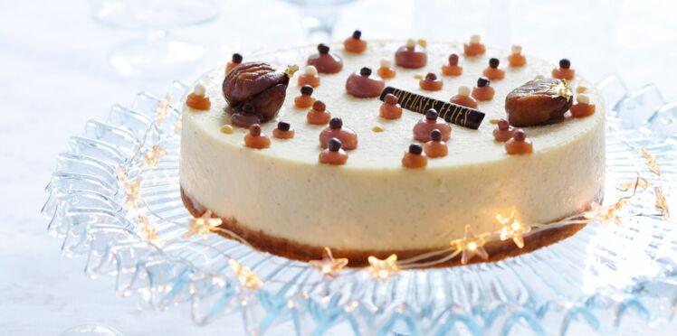 Cheesecake à la vanille et aux marrons glacés