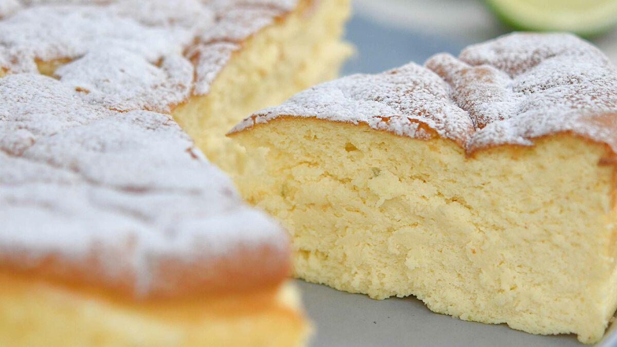 Gâteau à la ricotta au chocolat blanc et citron vert