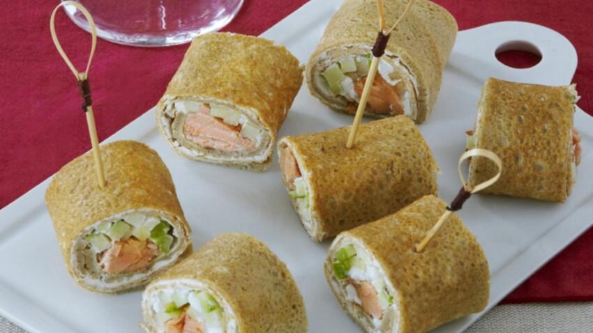Wraps au saumon laqué au cidre