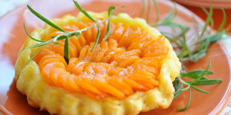 Feuilletées de carottes au miel et romarin