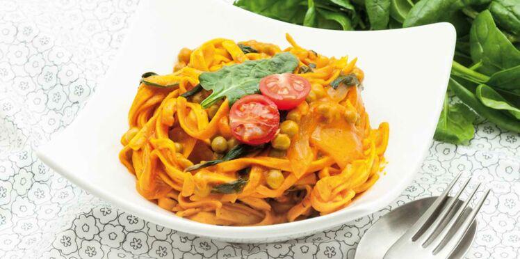 One pot pasta tagliatelles & légumes de printemps
