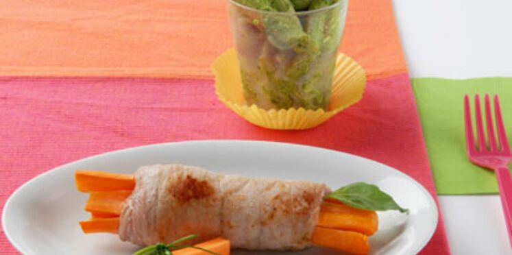 Roulade de veau à la carotte
