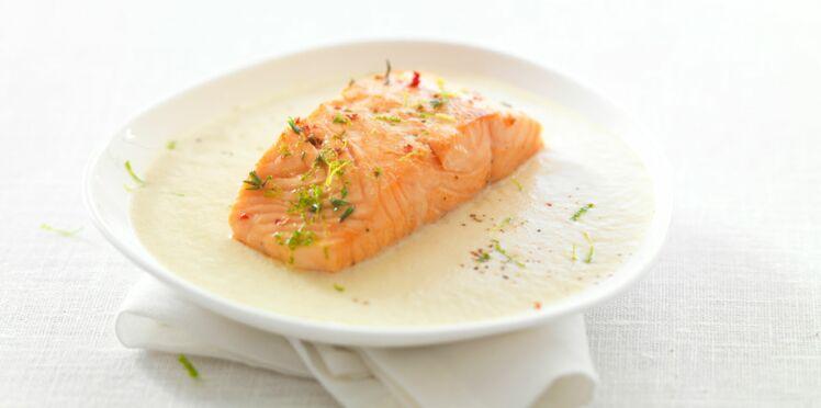 Crème d'Endives et saumon mi cuit