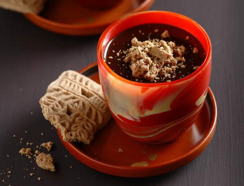 Mousse au chocolat biscuitée aux spéculoos