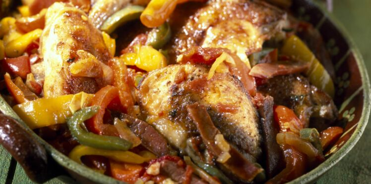 Poulet basquaise au wok