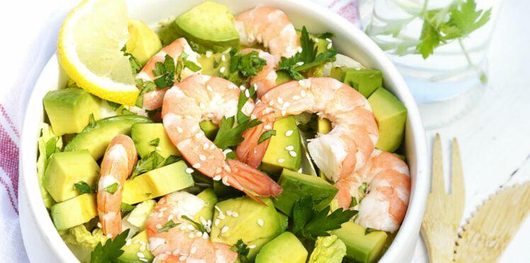 Salade avocat-crevettes