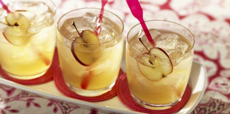 Cocktail cidre et mangue