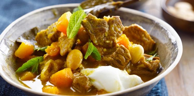 Curry d'agneau à l'indienne (A l'auto-cuiseur)