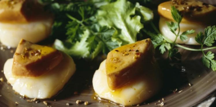 Coquilles saint jacques au foie gras
