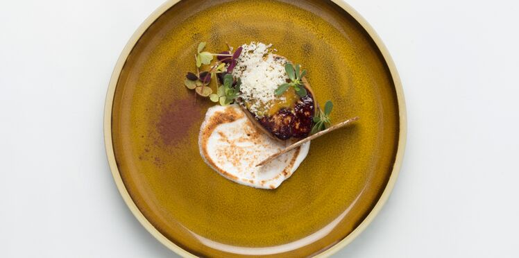 Foie gras poêlé et meringue salée de Pierre Augé