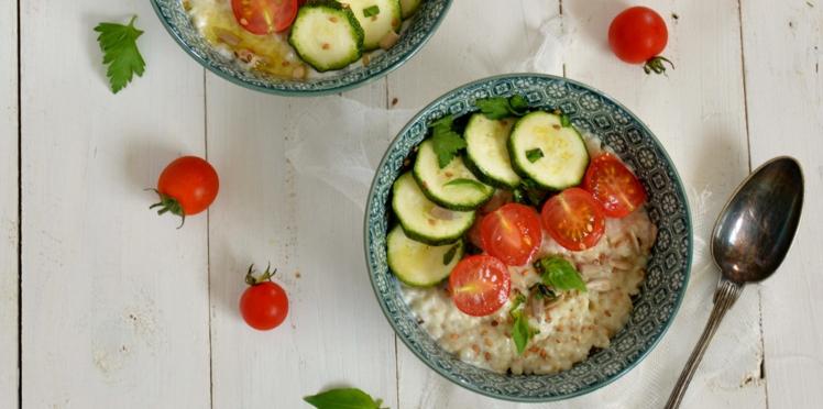 Porridge courgettes et tomates