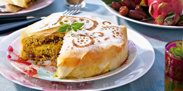 Pastilla de poulet aux fruits secs