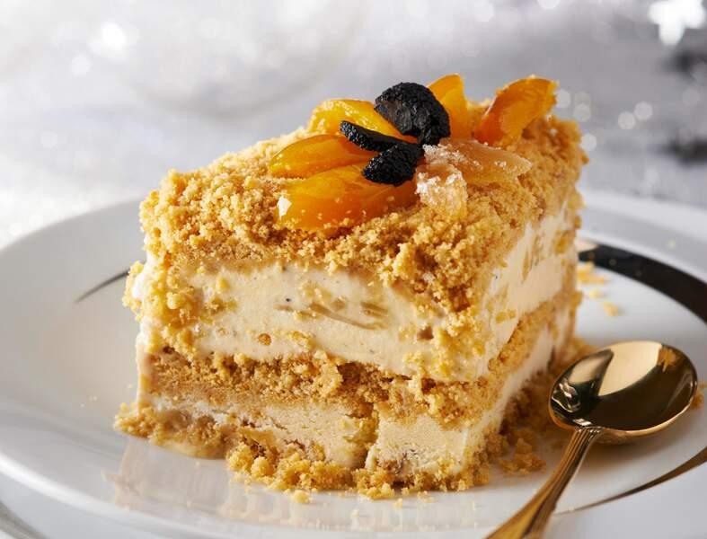 Gâteau glacé au gingembre confit