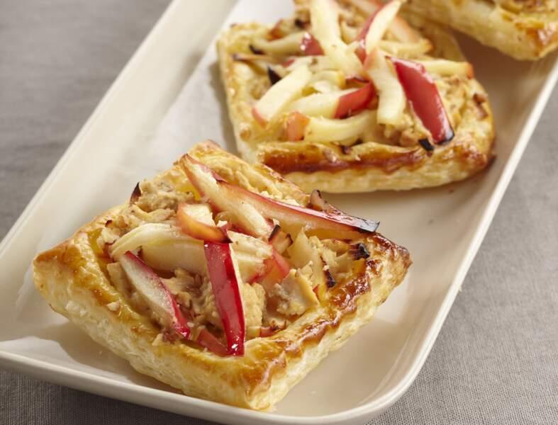 Tartelettes aux pommes et Fromage Fouetté Noix Figue Raisin