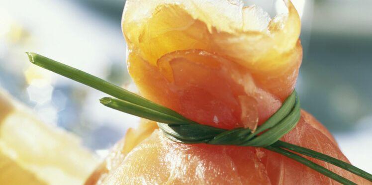 Ballotins de saumon fumé à l'oeuf poché