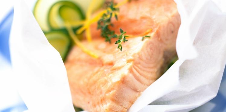 Pavé de saumon en papillote