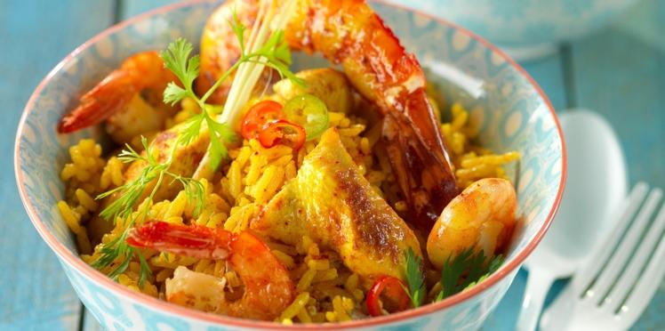Paella façon thaï
