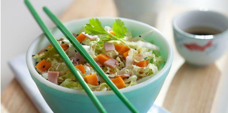 Salade de chou chinois jambon mimolette