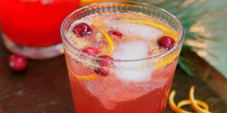 Cocktail Cranberry Fizz avec et sans alcool