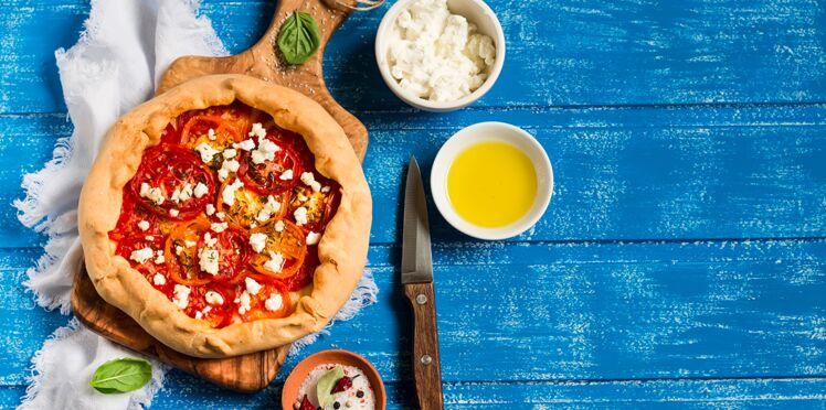 Tarte à la tomate et haricots verts