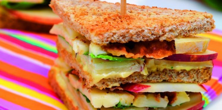 Club sandwich reblochon, pomme, bacon