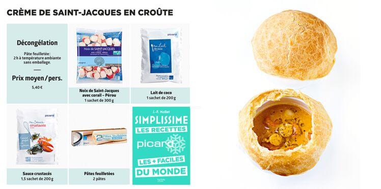 Crème de Saint-Jacques en croûte Simplissime & Picard