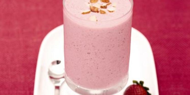 Shaker de tapioca fraise-amande