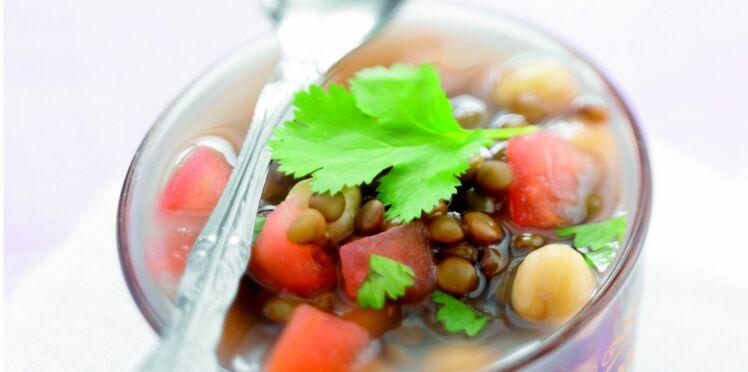 Soupe marocaine aux pois chiches