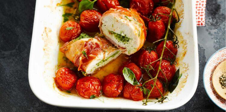Filets de poulet au jambon italien