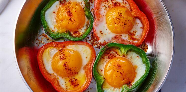 Fleurs d'œufs aux poivrons