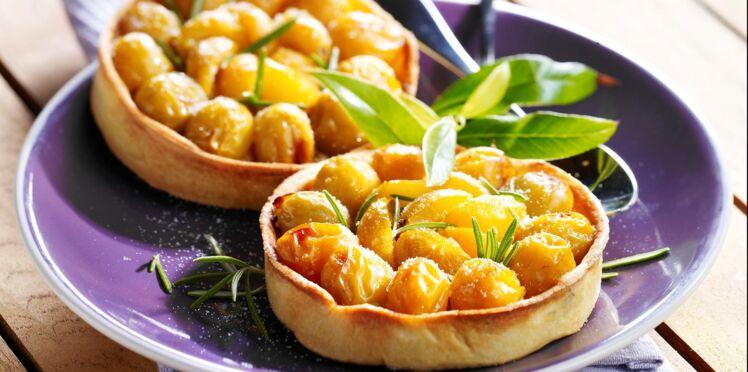 Tartelettes aux mirabelles et au romarin