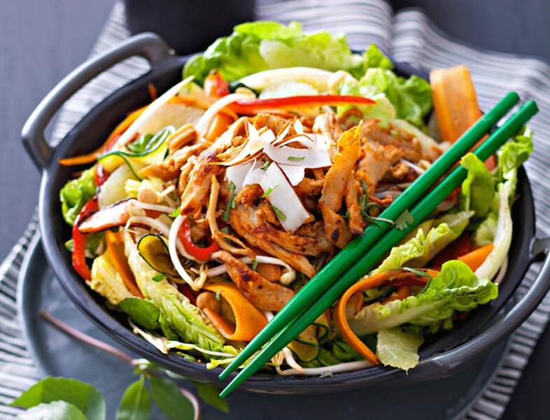 Salade thaïlandaise végétarienne