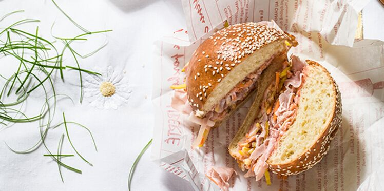 Sandwiches new look au jambon cuit