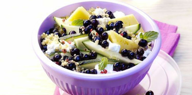 Salade de quinoa aux myrtilles