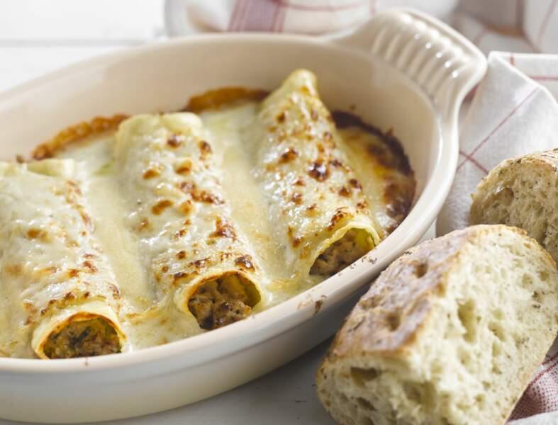 Cannellonis au boeuf à la piémontaise