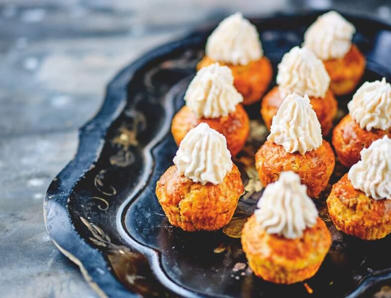Cupcakes de crevettes grises