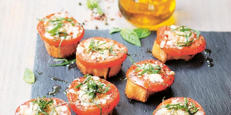 Tartines de tomates grillées