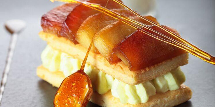 La pastille de Vichy et le miel d'Auvergne comme un millefeuille moelleux