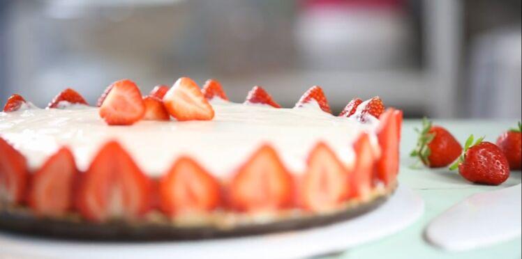 Cheesecake fraises-rhubarbe