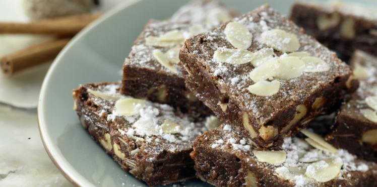 Pavé au chocolat et amandes effilées