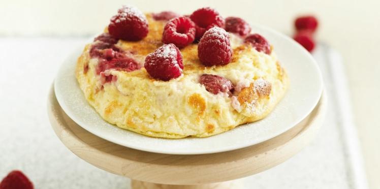 Gâteau au fromage blanc aux framboises light